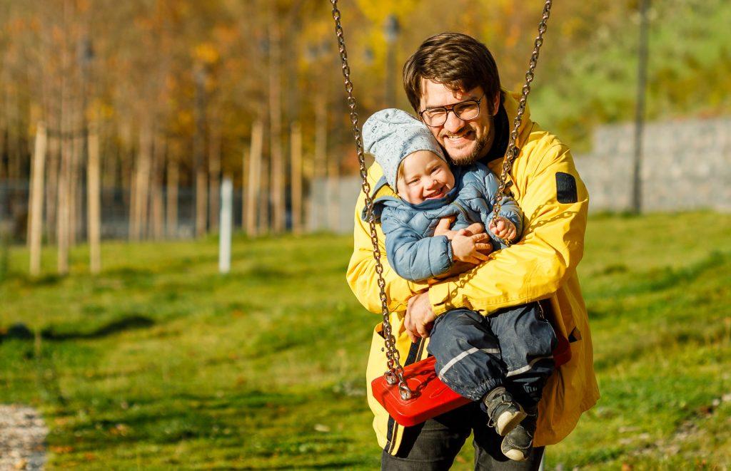 Tėtis su vaiku / Orange Studio Photography nuotr.